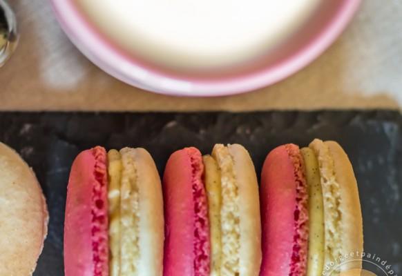 Cuisine – macarons – fraise – vanille