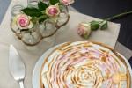 Tarte framboises / chocolat blanc meringuée