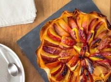 Tarte légère et croustillante aux nectarines