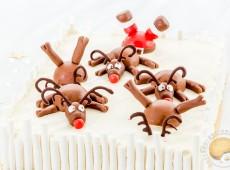 Gâteau de Noël : crème de marrons, marrons glacés, poires et mousse vanille (sans gluten)