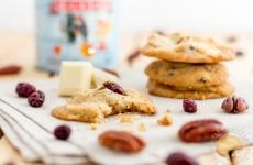 Mes cookies du grand Nord ;-) : sirop d'érable, cramberries, noix de pécan et chocolat blanc