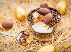 Petits nids de Pâques poire / chocolat noir