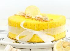 Gâteau léger au citron et au nougat