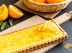 Sublissime tarte à l'orange caramélisée de Christophe Felder