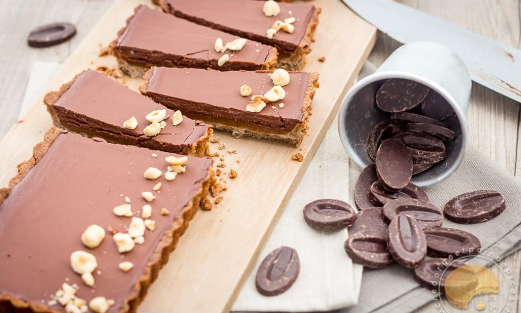 tarte chocolat caramel au beurre sal et sarrasin sucre d 39 orge et pain d 39 epices. Black Bedroom Furniture Sets. Home Design Ideas