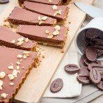Tarte chocolat, caramel au beurre salé et sarrasin
