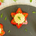 Tartelettes ultra simples fraises, citron, basilic