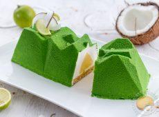 Bûche légère noix de coco et sudachi (ou citron)