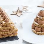 Tuto vidéo : Bûche de Noël – Sapins chocolat noisette