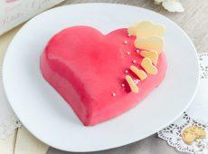 Cœur miel griotte – Entremets tout doux de Saint Valentin