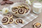 Biscuits spirales chocolat/vanille