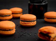 Macarons d'Halloween au sésame noir (sans gluten)