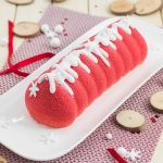 Bûche pomme d'amour : pomme, caramel de beurre salé, spéculoos, vanille