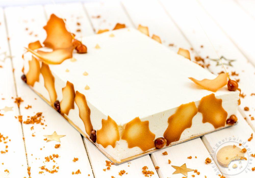 Buche de noel vanille et caramel