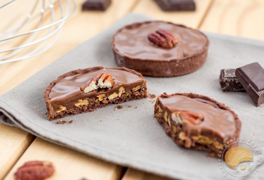 Tartelettes Aux Noix De Pecan Et Caramel Au Chocolat Au Lait Sucre