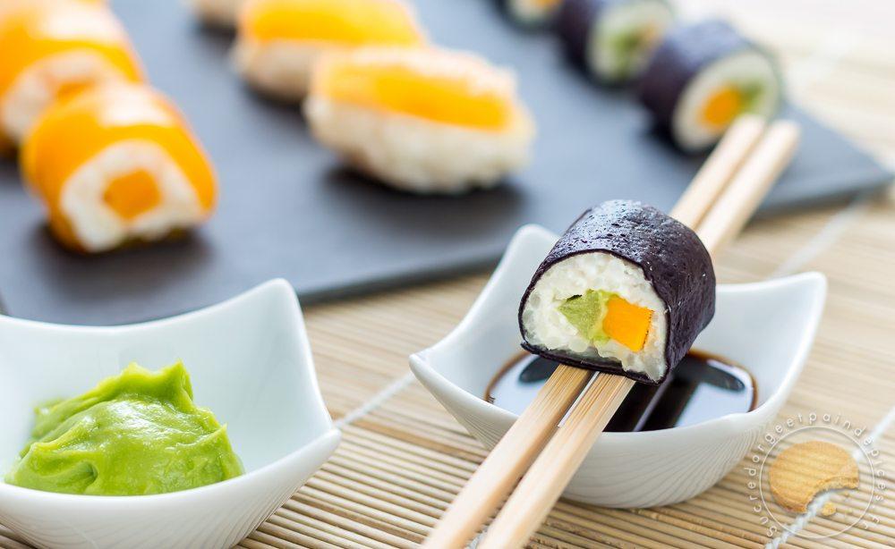 sushis sucr s en trompe l il makis exotiques mangue passion sushis aux agrumes yuzu. Black Bedroom Furniture Sets. Home Design Ideas