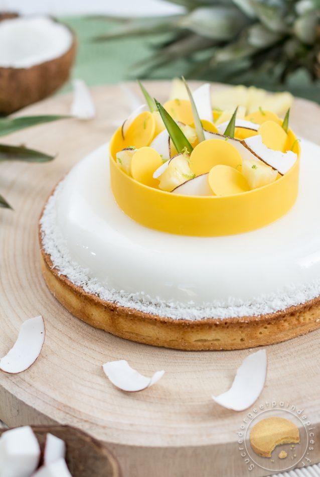 Tarte exotique coco ananas passion sucre d 39 orge et pain d 39 epices - Sucre d orge et pain d epice ...