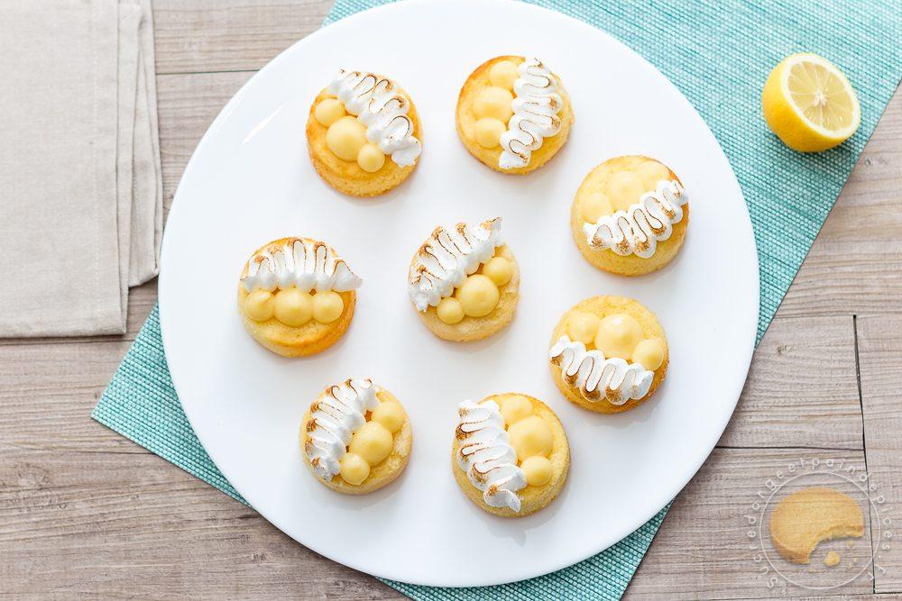 Gateau citron et lemon curd